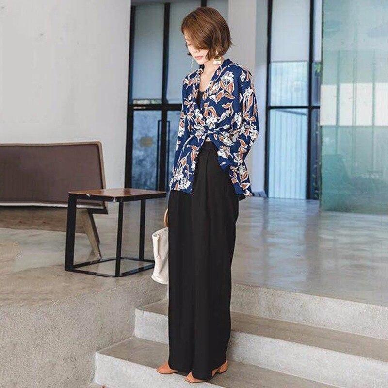 Image 5 - GALCAUR للنساء بنطال ذو قصة أرجل واسعة ارتفاع الخصر سستة جيب كبير  الحجم X طويل بنطلون ربيع أنثى 2018 موضة OL ملابس-في السراويل وبناطيل  الكابري من ملابس نسائية على