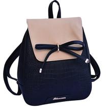 купить Mini Shool Backpack Women School Bags For Teenage Girls Kawaii Bow Rucksack Small Bagpack Girl Sac A Dos Backpack Female Mochila дешево
