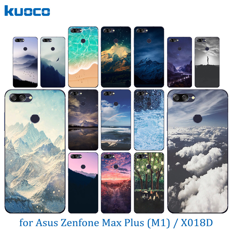 Phone Cases For Asus ZenFone Max Plus M1 ZB570TL Clear Cover Landscape Pattern 5.7 inch For Zenfone Max Plus(M1) X018DC ZB570TL