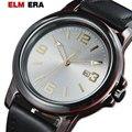 Gents Watche Unik Carbon Fibre Sport Horloges Quartz Analoog Datum Horloge Mannen Lederen Militaire Waterdicht Horloge relogio masculino