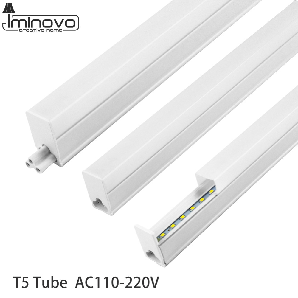 LED T5 Integrated Tube Fluorescent T8 Light 300MM 600MM 1FT 2FT Wall Lamp Lampada 6W 10W Ampoule Warm Cold White 110V 220V