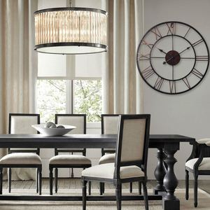 Image 2 - Горячая Распродажа очень большие винтажные стильные металлические настенные часы в стиле кантри шоколадный цвет