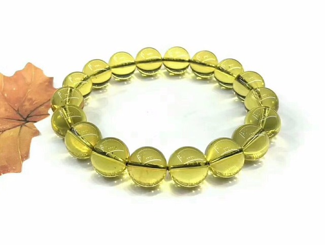 Wholesale 2a Natural Mexican Blue Amber Bracelet 11mm Beads