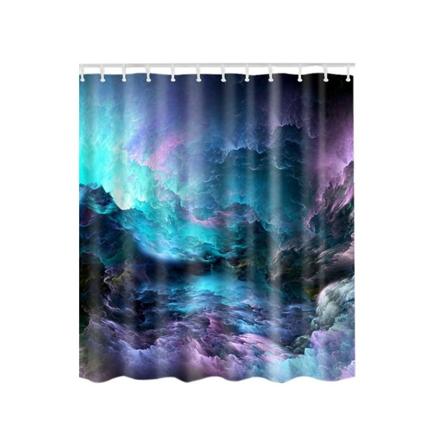 Sky Shower Curtain Surf Waves Decor By Star Hat Picture For Print Polyester Fabric Bathroom Set