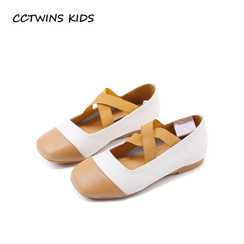 CCTWINS KIDS 2018 Spring Baby Girl Fashion Dance Shoe Children Genuine Leather Ballet Toddler Brand Party Flat GB1730