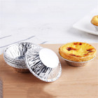 250Pcs Disposable tin foil egg tart die Aluminum foil egg tart base Egg Tart Cup with Tart Bakeware Baking Tool
