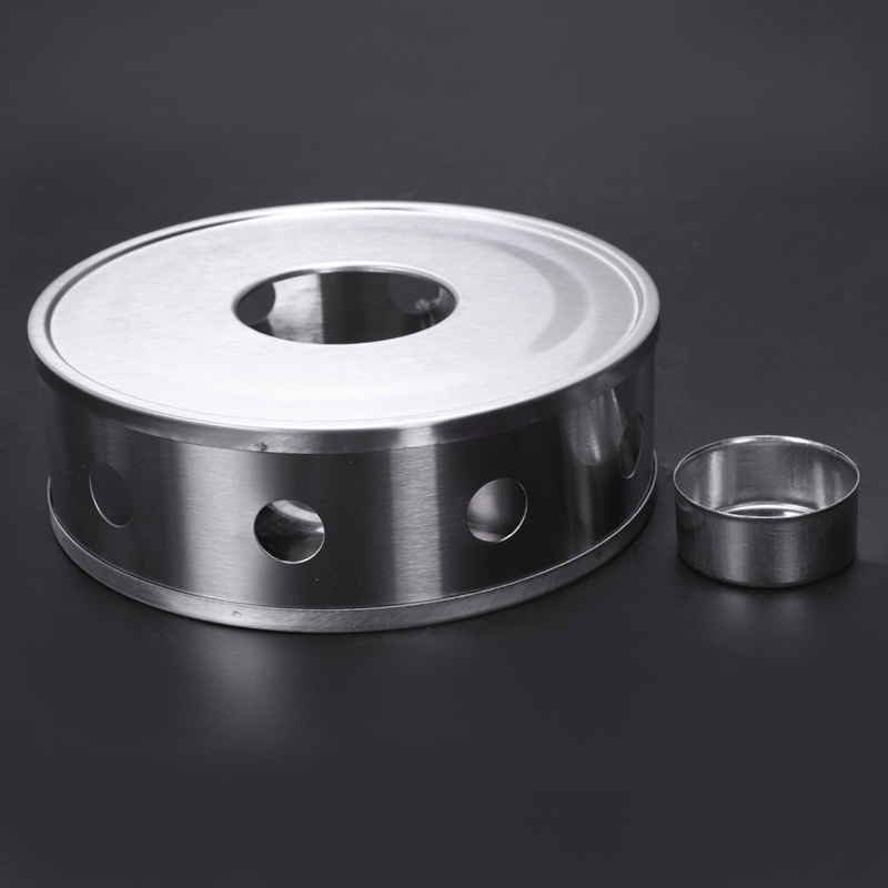 Свеча база нагреватель серебряный круглый кофе нагреватель для чайника Trivets тарелка из нержавеющей стали практические