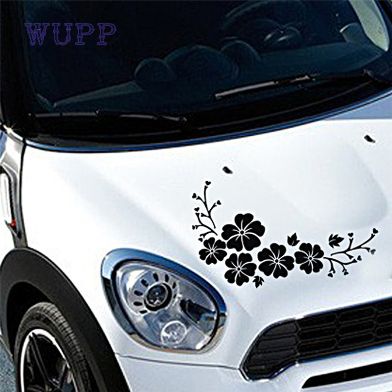 Adhesivo de flores Adesivo Pegatina para coches, paredes, ordenadores portátiles y otras cosas nuevo estilo de moda 17july10