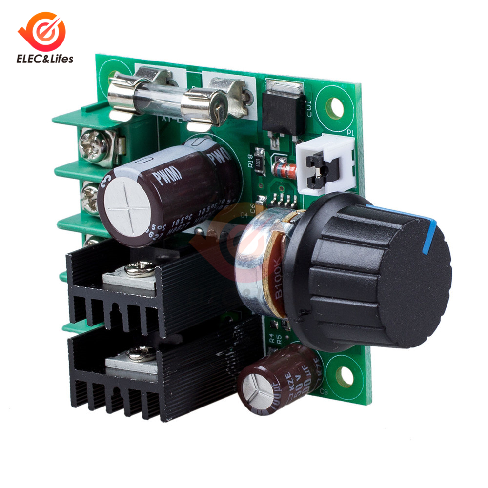 12V 24V 36V 10A PWM DC Motor Speed Controller With Knob Switch Adjustable Dimming Dimmer Module 400W Motors Governor Controller