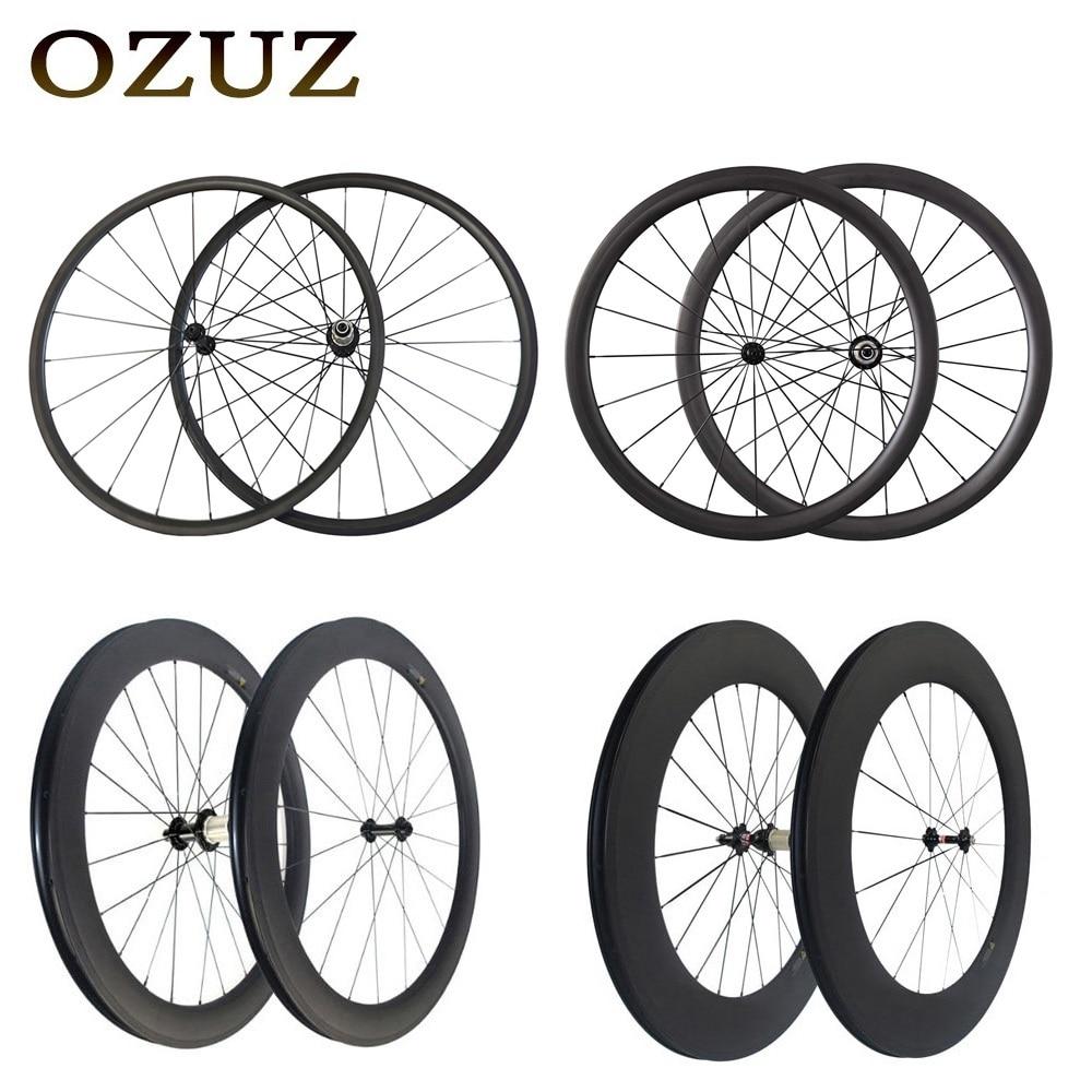 Tira recta v freno 24mm 38mm 50mm 88mm carbono ruedas clincher tubular 700c bicicleta de carretera ruedas 3 K mate powerway r36