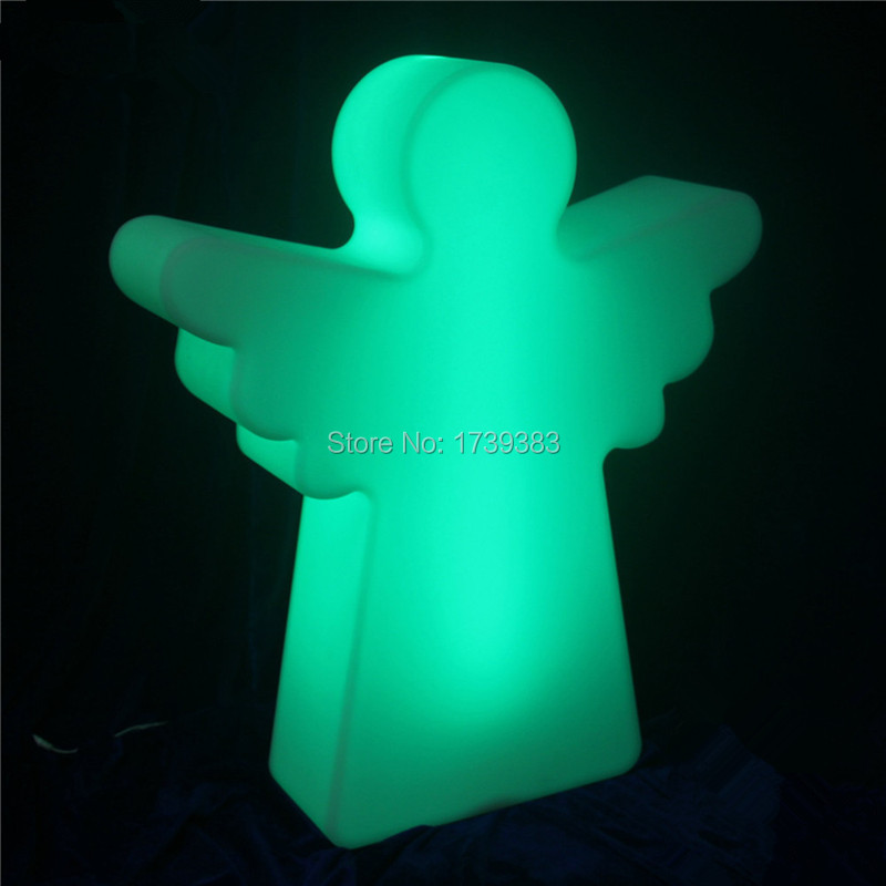 Waterproof 16 Colors Changing Plastic LED Christmas Angel Floor Lamp Rechargeable Remote Control Outdoor Decorative Mood Lamp moon shape remote control changing colors led lamp