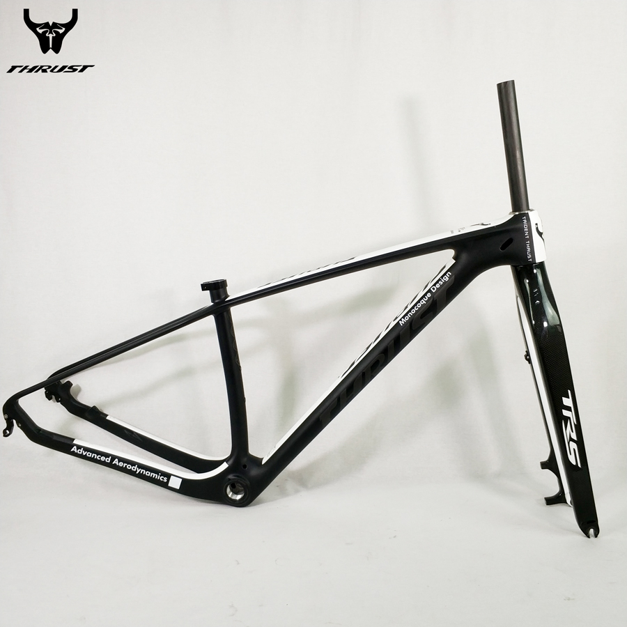 Bicycle Carbon Frame 29er Mountain Bike Frame UD Black Mate Glossy 15 17 19 inch with mtb Carbon Fork 15 9mm Customized Paint 17 inch mtb bike raw frame 26 aluminium alloy mountain bike frame bike suspension frame bicycle frame