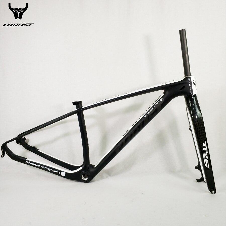 Vélo Carbone Cadre 29er Vtt Cadre UD Noir Mat Brillant 15 17 19 pouce avec vtt Fourche Carbone 15 9mm Peinture Personnalisée