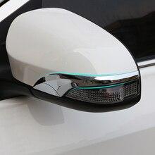 Для Toyota Yaris Vitz ABS хромированное Автомобильное зеркало заднего вида, накладка, украшение для рамки, аксессуары для литья