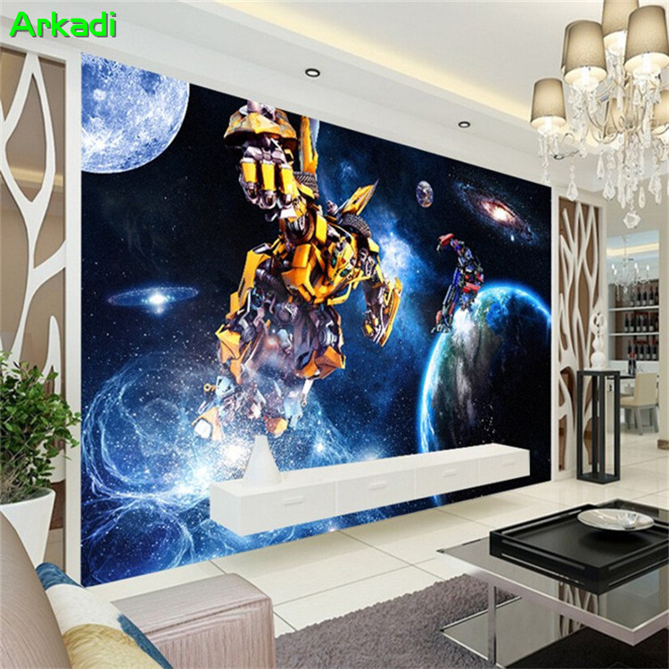 Custom Bar Cafe Wallpaper Transformers Photo Living Room Bedroom TV Background Wall Boys Room Decoration Painting