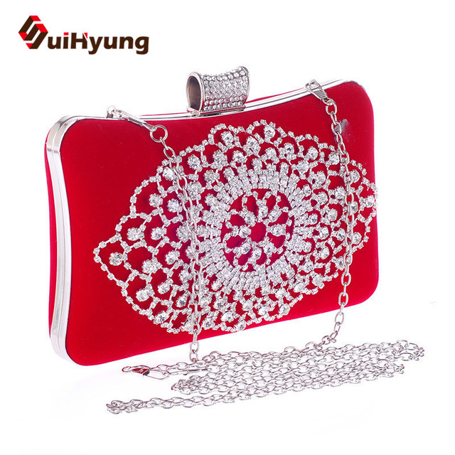 2016 New Women Bags Fashion Design Diamond Handbags Party Evening Bags Wedding Rhinestone Small Clutch Purse Casual Clutch Bags