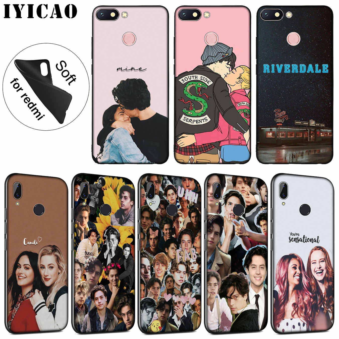 IYICAO riverdale choni Soft Silicone Phone Case for Xiaomi Redmi K20 7A 6A 5A S2 4X 4A GO Note 7 5 Plus 6 Pro Black TPU Cover