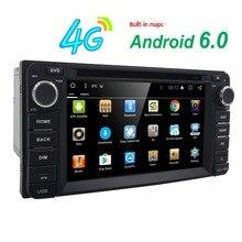 4G SWC DVR Quad Core Android6.0 Jugador CarDVD Para Toyota Universal RAV4 COROLLA VIOS HILUX Terios Land Cruiser PRADO 100 4 RUNNER