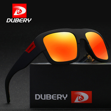 DUBERY Mirror Polarized Square Men's Sunglasses Driving Shades Sun Glasses Male Sport Fishing Brand Designer UV400 Oculos D720