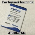 4500mAh HB476387RBC mobile phone battery for huawei honor 3X G750 B199 G750-T00 G750-C00 battery