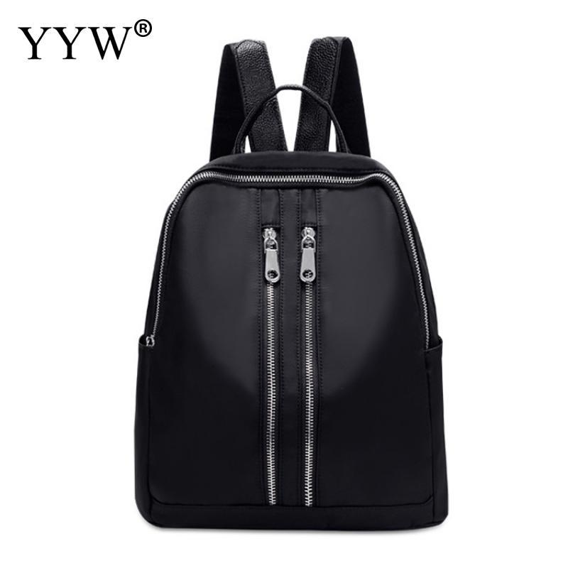 Anti-Theft-Backpack Women Shoulder-Bag Teenage Black Femme Fashion Pu For Girls Sac Dos