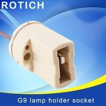 10pcs/lot G9 Lamp Base 250V 2A Ceramic Socket High quality Type Halogen Holder