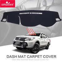 Smabee Dash Mat Dashmat Schwarz Teppich Abdeckung für MITSUBISHI TRITON L200 4DR MK2 2015-2017 Sonnenschutz isolierung