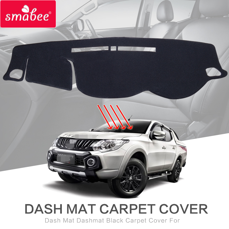 smabee Dash Mat Dashmat Black Carpet Cover For TRITON L200 4DR MK2 2015-2017 Sunscreen insulation dashmat original dashboard cover buick skyhawk