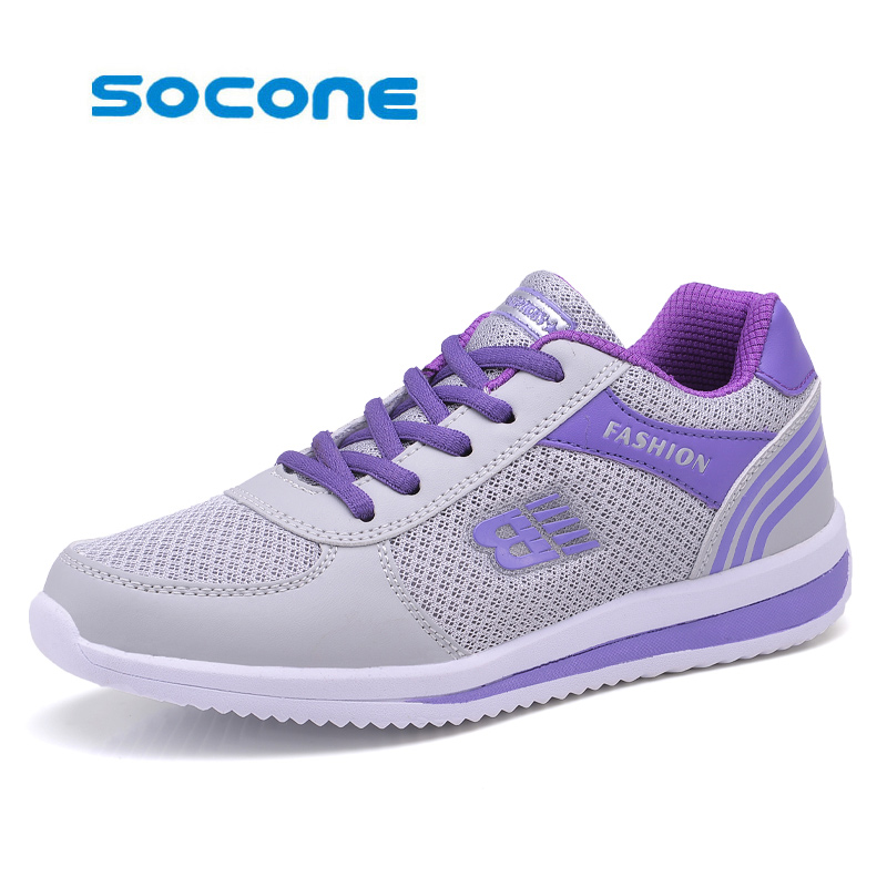 Socone Breathable Running Shoes for Women New 2017 Summer Comfort Women Sneakers Ladies Sport Shoes Woman zapatillas deportivas kelme 2016 new children sport running shoes football boots synthetic leather broken nail kids skid wearable shoes breathable 49