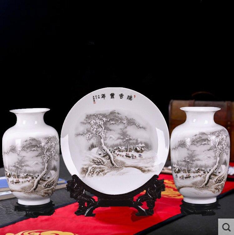 New Arrival Antique Jingdezhen Ceramic Vase Set Classical Chinese Traditional Handmade Eggshell Vase Flower Vases Porcelain VaseNew Arrival Antique Jingdezhen Ceramic Vase Set Classical Chinese Traditional Handmade Eggshell Vase Flower Vases Porcelain Vase