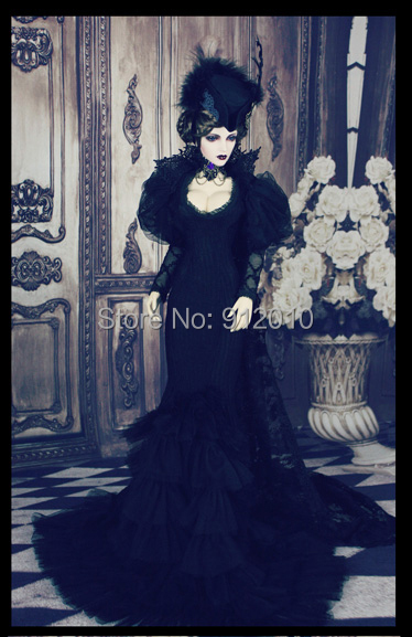 Limited Black Widow BJD Gothic Dress Suit 4pcs for BJD SD10 13 16 SDGR IP EID