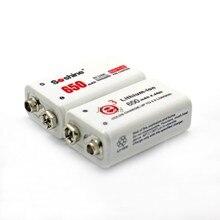 Soshine 2 unid 650 mah li-ion de litio recargable batería de 9 v 6f22 de humo electrónico guitarra
