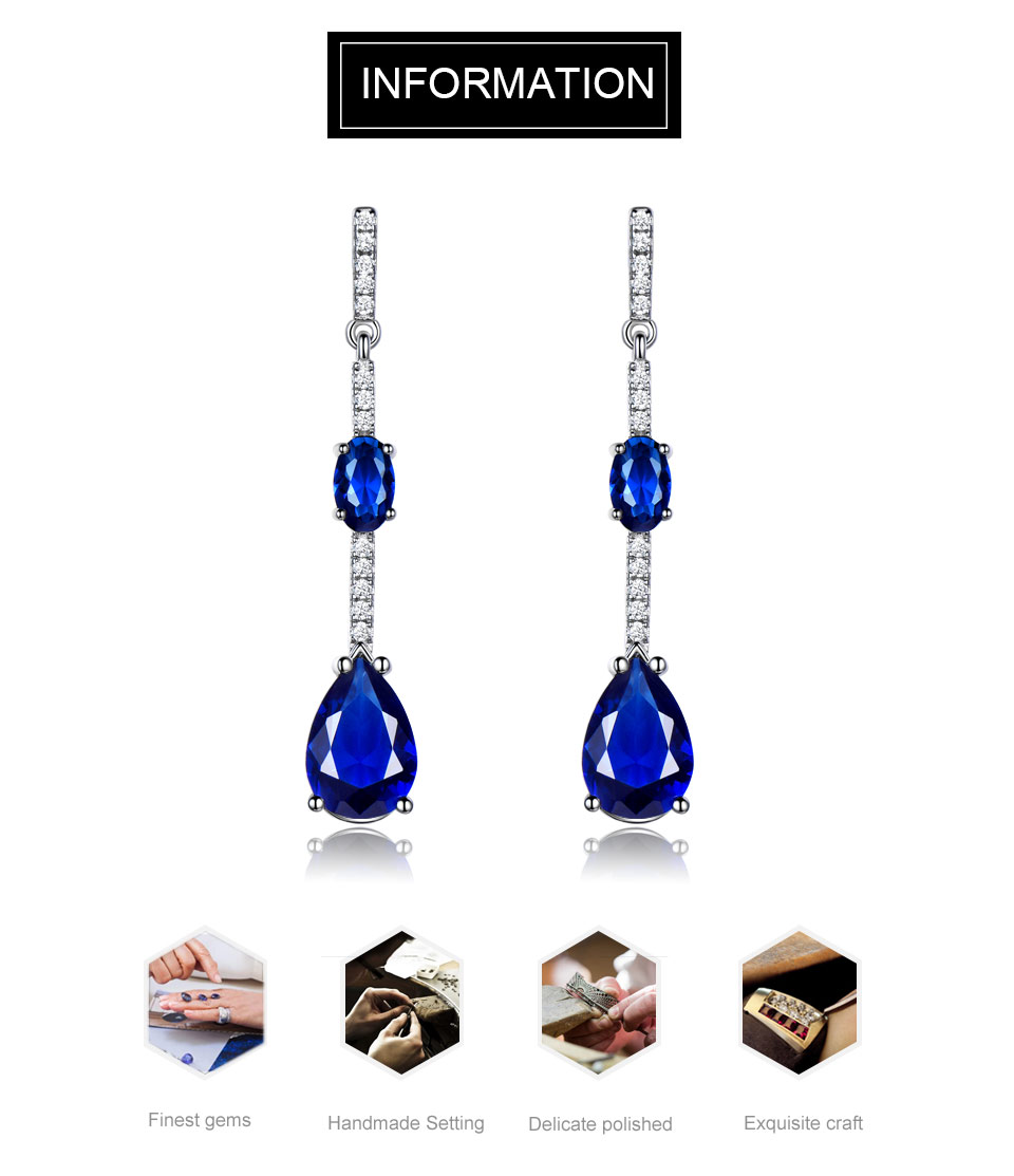 Honyy-solid sterling silver earrings for women EUJ068S-1 (7)