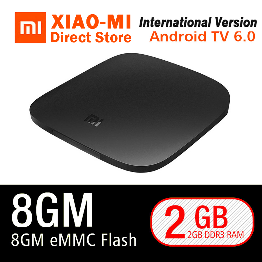 Global Version Xiaomi MI TV BOX 3 Smart 4K Ultra HD 2G 8G Android 6.0 WIFI Google Cast Netflix Red Bull Media Player Set-top Box original xiaomi mi tv box 3 smart 4k quad core hd 2g 8g android 6 0 wifi google cast netflix red bull media player set top box