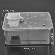 Plastic Pet Reptile Turtle Tank Insect Spiders Breeding Boxes Tortoise House Terrariums Reptiles Supplies Transparent 29X22X12cm