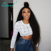Qearl Full Lace Wig 24 26 Long Human Remy Hair Wigs Curly Lace Wigs Pre Plucked Natural Hairline with Baby Hairs 180% 200%