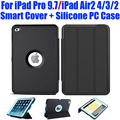 20X Silicone Hard Case + Smart Cover For iPad Pro 9.7 Air2 4/3/2 Kids Safe Armor Shockproof Heavy Duty + Screen Protector I613