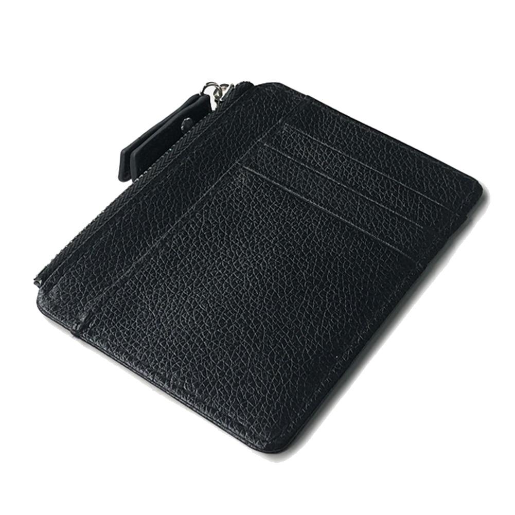 Hot Men Leather Zipper Slim Wallet Coin Purse Credit Card Cash Holder Cases RFID Blocking Wallet Card Men обложка на паспорт