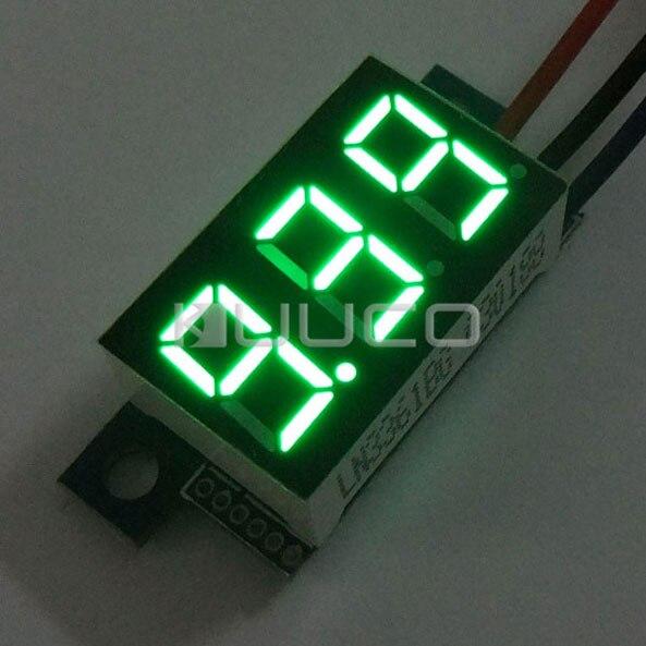 Digital Meter/Voltage Meter DC 0.00V~30.0V Voltmeter Green Led display Panel Meter DC 12V 24V Volt Meter/Monitor/Tester