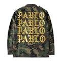 2016 Outono Inverno Temporada 3 Kanye West Yeezy Pablo Camuflagem Verde Do Exército do Revestimento do Revestimento Dos Homens Hiphop Paul Streetwear Jaqueta Militar