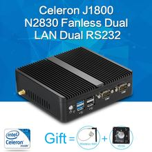 Mini PC Celeron J1800 N2830 8G RAM 128G SSD dual RS232 dual RJ45 max 2.58GHz mini desktop pc Micro Computer HTPC Windows 10/8