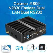 Mini PC Celeron J1800 N2830 8G RAM 128G SSD dual RS232 dual RJ45 max 2.58GHz mini desktop pc Micro Computer HTPC Windows 10/8