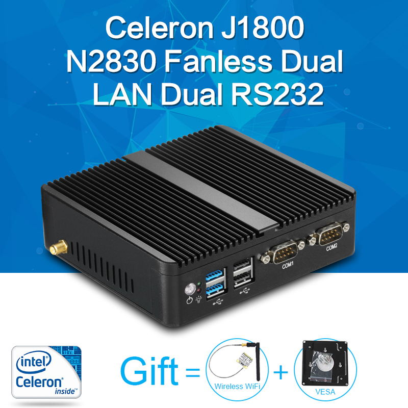 XCY Mini PC Celeron J1800 N2830 8G RAM 128G SSD dual RS232 dual RJ45 max 2.58GHz mini destop pc Micro Computer HTPC Windows 10/8 dual lan mini pc with 4gb ram 64gb ssd celeron n3160 micro pc palm pc windows 2 hdmi 2 0 dp port business computer tiny itx pc