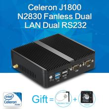 Xcy mini pc celeron j1800 n2830 8g ram 128g ssd dual rs232 dual rj45 max 2.58 ghz mini destop pc micro htpc computadora de windows 10/8