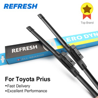Free Shipping Framless Wiper Blade For Toyota Prius Soft Rubber 26 16 Windshield Wiper Blade 2pcs