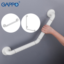 GAPPO Grab Bar Series Shower Handrail Standard Plastic Grab Bar white Bathroom Railing Anti-slip Trapleuning Bathtub Accessories