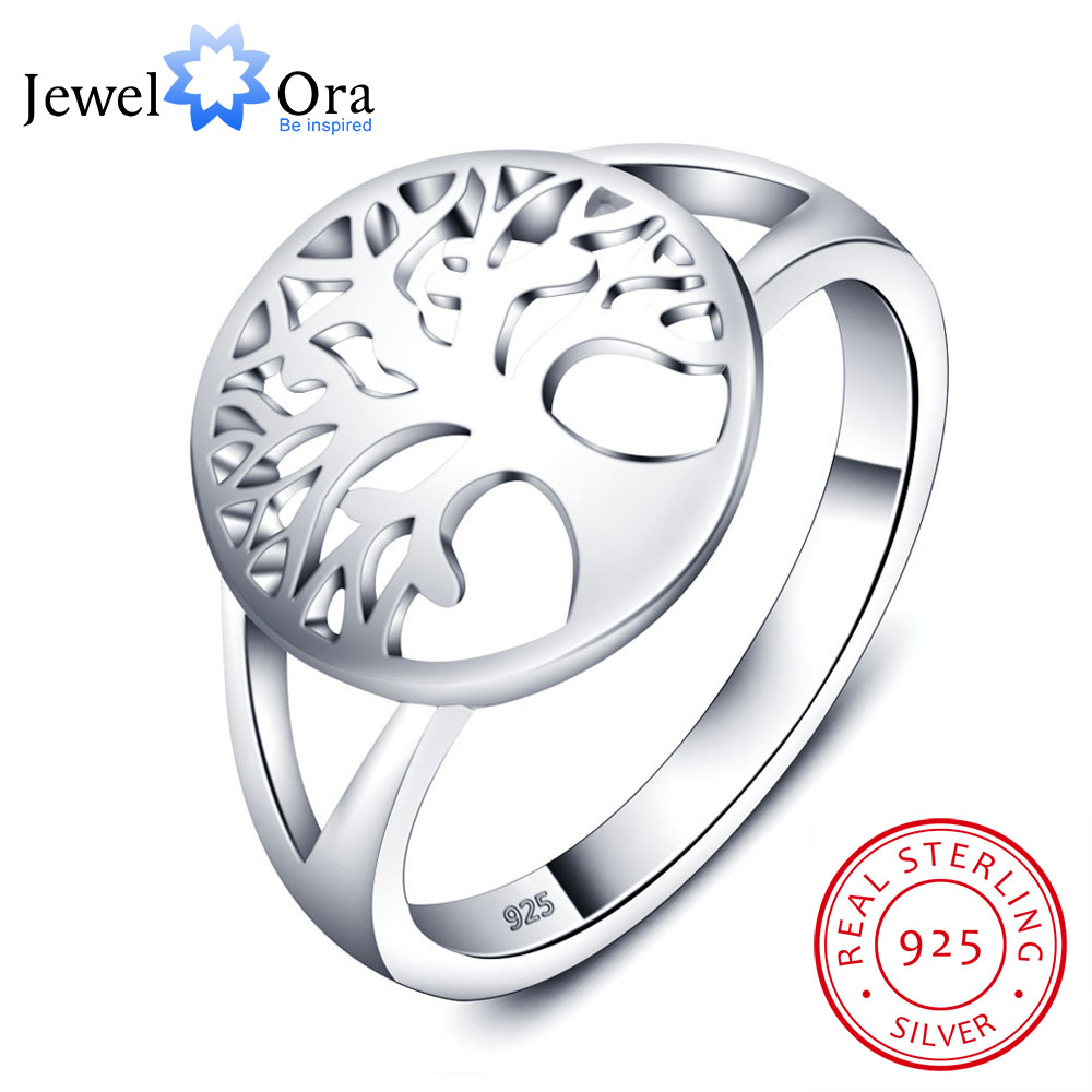 Tree of Life Classic Accessories 925 Anelli in argento sterling per le donne Regali per la festa della mamma (JewelOra RI102308)