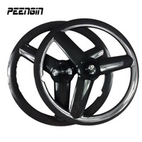 carbon tri spoke wheel front 700C road rear tubular wheel bicycle 3 spokes fixed gear track bike clincher or disc brake wheelset