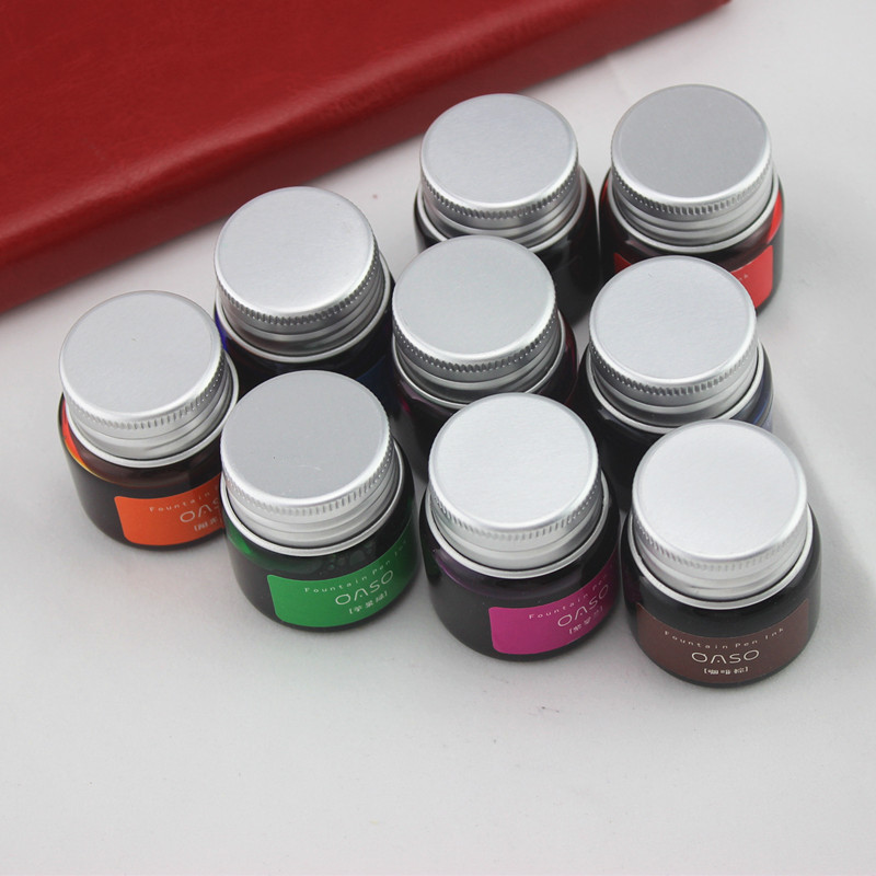 Creative Fountain Pen Bottle Ink 20ml OASO 1pc Portable Cute Kawaii Mini Pigment Color Ink Drawing Graffiti School Supplies hot sale 1000ml roland mimaki mutoh textile pigment ink in bottle color lc for sale