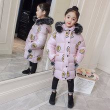 2019 Girls Winter Coat Children Jackets Cotton Parkas Kids Winter Outerwear Coats Thickened Warm Jacket 5 6 7 8 9 10 11 12 13